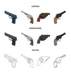 Revolver and pistol icon vector