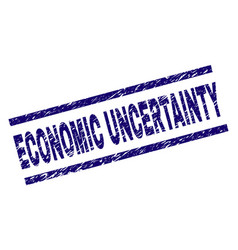 Scratched textured economic uncertainty stamp seal vector