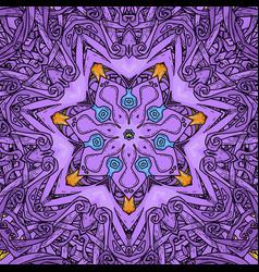 seamless pattern in mandala style vector image