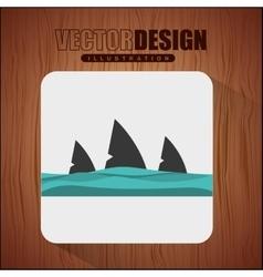 shark icon design vector image