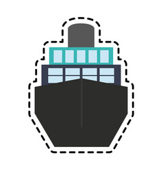 Ship frontview icon image vector