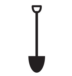 shovel icon on white background flat style vector image