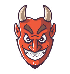 Smiling devil face vector