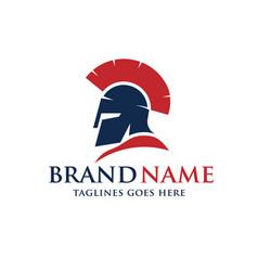 spartan helmet logo vector image