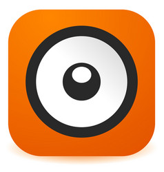 Speaker icon in flat style easy to change color vector