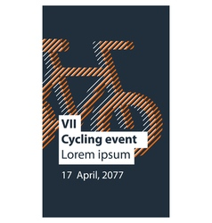 Sports activity bicycle event vector