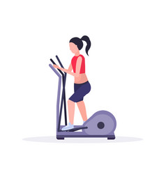 sports woman doing cardio exercise girl using vector image