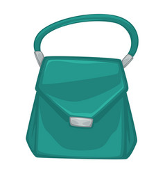 stylish female bag with metal clasps and handle vector image