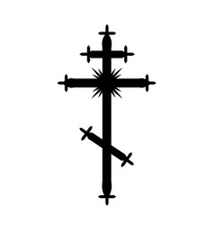 The greek-catholic orthodox cross vector