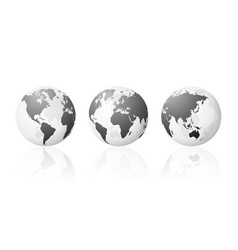 Transparent world globe maps planet earth vector