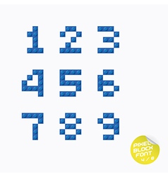 Unique Pixel Block Alphabet vector