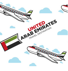United arab emirates traveling seamless pattern vector