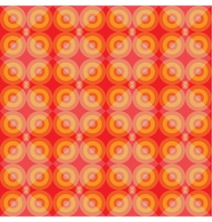 Warm retro seamless pattern with circles vector