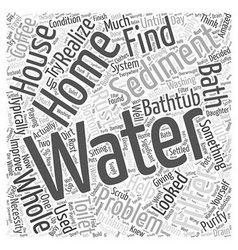 Whole house water filter Word Cloud Concept vector