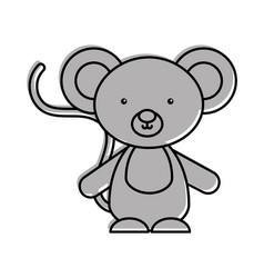 Cute and tender koala vector