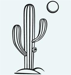 Cactus cartoon vector image