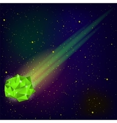Green Falling Meteor vector image