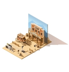 isometric low poly movie set vector image vector image