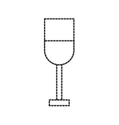 restaurant or bar glass cup beverage cocktail vector image