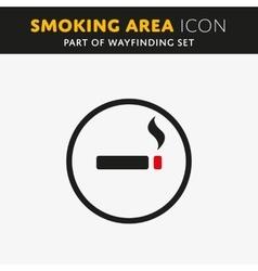 smoke icon vector image vector image