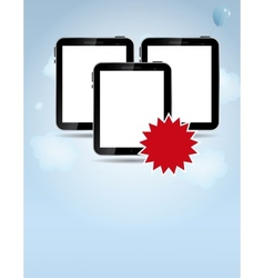 template for smart phone and pad company vector image vector image