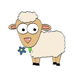 Cartoon Character Cute Sheep Symbol of 2015 Year vector image vector image