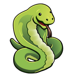cute cobra snake vector image