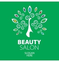 peacock logo for beauty salon vector image vector image