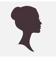 Woman Face Silhouette with Stylish Hairstyle vector image vector image
