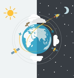 Abstract global modern transport scheme vector image vector image
