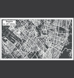 bogota colombia city map in retro style outline vector image vector image