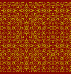 brown plant seamless pattern background vector image vector image