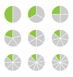 circle segment set vector image