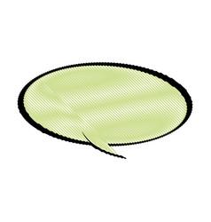 Drawing cartoon bubble comic speech chat vector