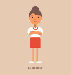 expressions and emotions good chief smiling vector image