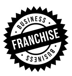 Franchise stamp typographic stamp vector