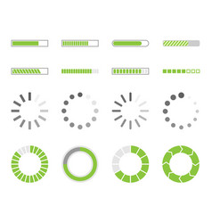 loading icons load indicator sign vector image vector image