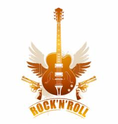 rock n roll image vector image