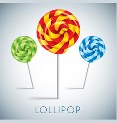 three lollipop collection vector image