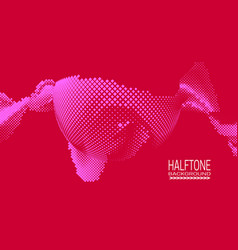 Abstract halftone background design with texture vector