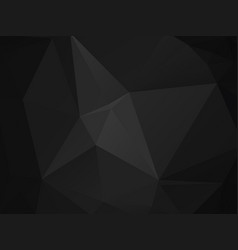 abstract polygonal background dark gray black vector image