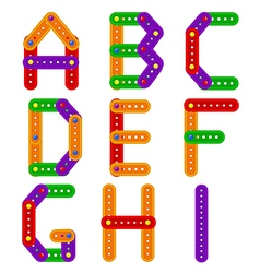 Alphabet from constructor from A to I vector