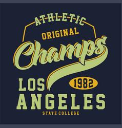 Athletic original los angeles vector