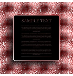 Background with shiny red sequins Eps 10 vector image
