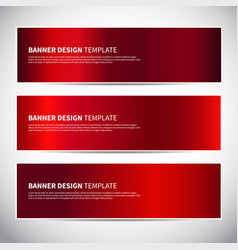 banners red shiny glossy gradient banner vector image