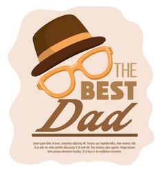best dad card vector image