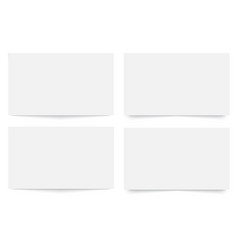 blank empty business card template vector image