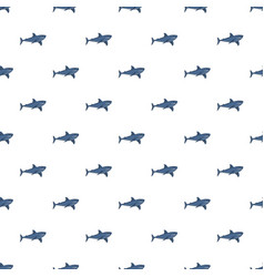 blue shark pattern seamless vector image