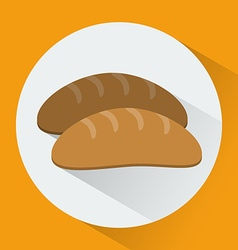 Bread colorful round icon vector
