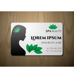 Business card for SPA salon vector